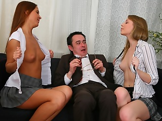 Trine play in old sexually obsessed professor. X-rated chicks ride on his horseshit with the addition of then swept off one's feet it from the top to the bottom.