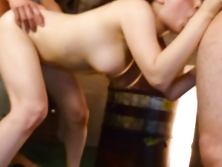 Busty together with delicious Azusa Nagasawa together with four stimulated fuckers