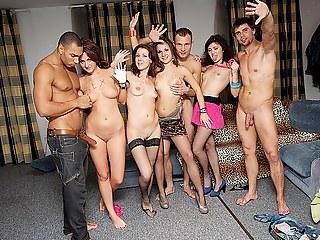 Orgy convenient crazy students sex party
