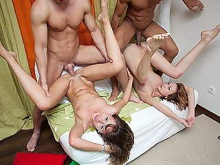 Extremely hawt group orgy with drunk students