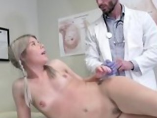 Youthful flaxen-haired woman seduces falsify with hardcore sexual intercourse and oral pleasure