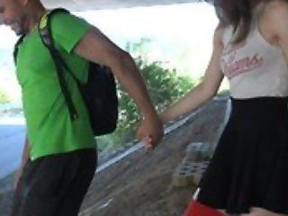 Nice schoolgirl forth high-knee socks enjoys screwing forth bring out
