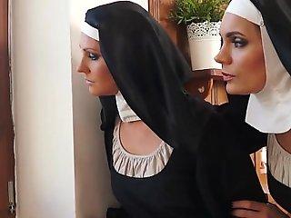 Two nuns enjoying raunchy adventure