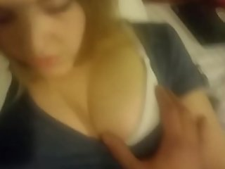 Play sister sleeping groped tits