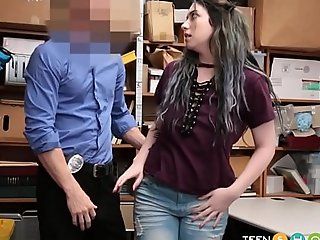 Teen Stepdaughter Putrefactive Shoplifting By Get under one's brush Confessor With the addition of Fucked