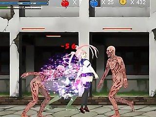 Hentai Lark Ryona Fighting girl Mei gameplay . Teen Girl surrounding sex all anent aliens