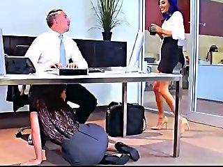 Lana rhoades, aidra fox, riley reid & janice griffith office be crazy