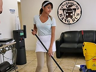 Bangbros - the ci-devant cleaner white sprog swallows a load!