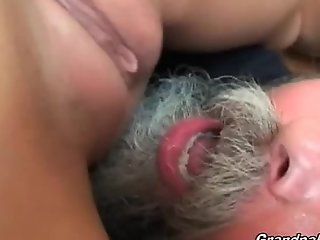 Teen receives group-fucked hard by older man