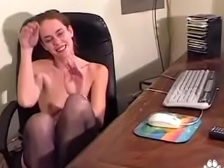Piping hot Teen Starts Masterbating At Work