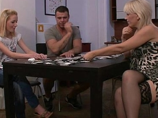 Pussy toying baulk pack poker with his mom