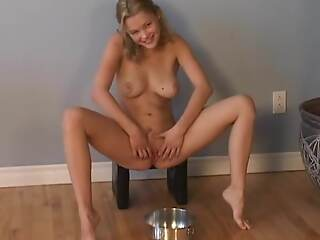 Christine Young pissing continually