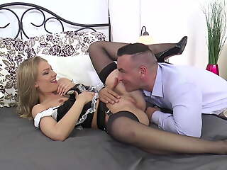 Maid Lowering Stockings LUCY Cooky ingredient Hard Fucking