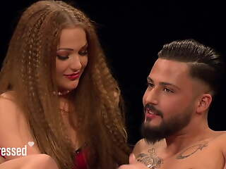 Long frizzed hair teen makes love with muscular baffle