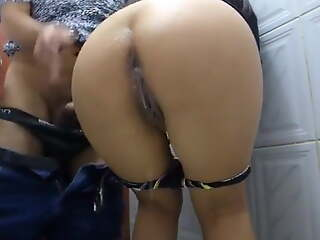 Anal in the bathroom