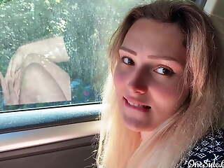 Babe Blowjob Big Dick Stranger plus Cumshot in the Car