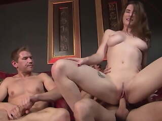 Teen Daughter Fucks Step Daddy & Uncle - Molly Jane