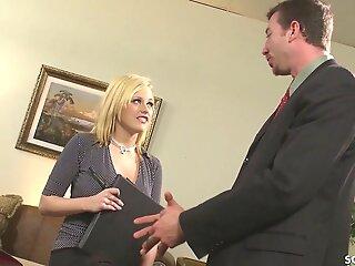 Huge Blarney Boss Seduce Secretary Teen Codi to Fuck nearby Office