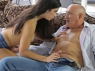 OLD4K. Pretty nice young gentleman enjoys ass-fucking with ancient sponger