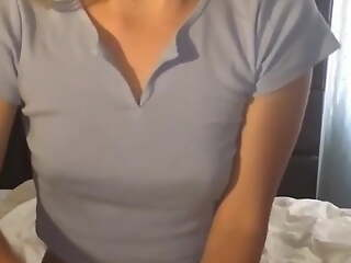 Handjob and cum tasting