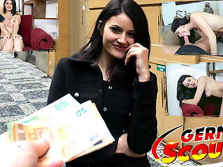 GERMAN SCOUT - Phthisic GIRL TINY TINA FUCKED AT PICKUP CASTING