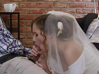 VIP4K. Rich baffle pays lavishly to fuck hot young babe on her wedding day