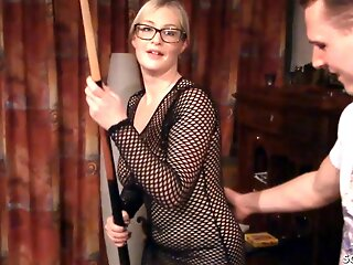 German Curvy BBW With Saggy Pair And Teen Amateur In all directions Threesome