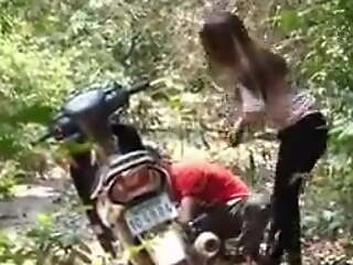 Don't trust a man to help a girl, forest sex