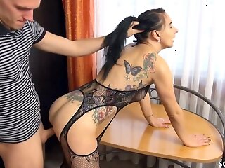 German Nympho Swain Mia Surprises him in Lingerie for Sexual connection