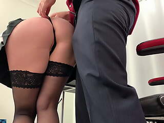 Secretary takes it in the ass before going diggings