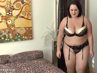 Busty Sarah Jane's older woman lesbian experience