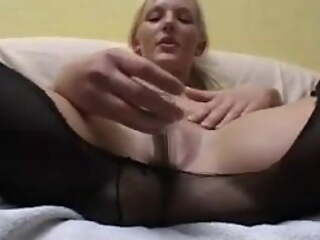 Bungler young girlfriend shaves pussy and gets cum on tits
