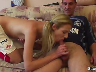 German old football coach fucks girl