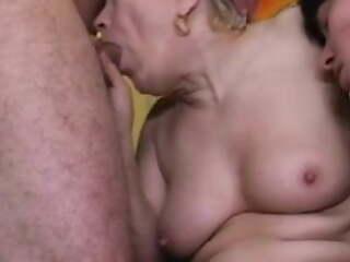 Couple fucks grandma