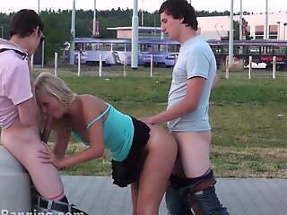 Impressive PUBLIC  street gangbang making love orgy PART 4