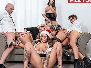 LETSDOEIT - Christmas Office Orgy With Mia Eruption & The brush Girls