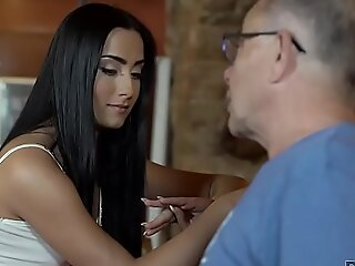 DADDY4K. Young girl and boyfriend's abb� embark sensual sexual relations in bar