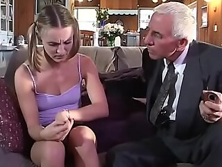 Young girl gets fucked wide of old couple