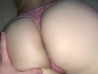 Fucked young stepsister through pink panties