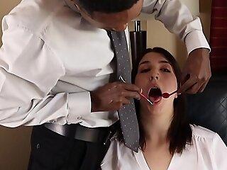 Dentist About BBC Cums On Beneficent Girls Braces