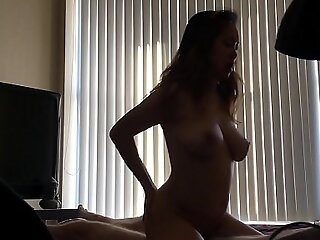 Busty Asian orgasms turn over and turn over riding blarney