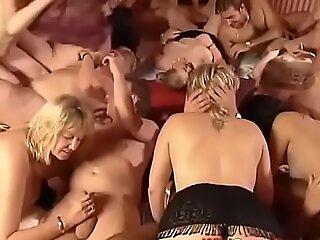 pioneering wild german groupsex fuckfest