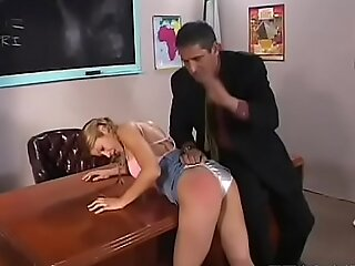 Naughty schoolgirl gives sexy blowjob with an increment of gets screwed fast