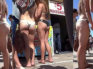 Sexy Hot  Ass Thong bikini Amateur Babes Voyeur HD Movie