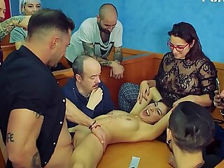FORBONDAGE - Romanian Beauty Experience BDSM Group Sex For The Tricky Time (Anya Krey and Emilio Ardana)