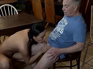 DADDY4K. Anna has old and young lovemaking shtick take the bar of her boys dad