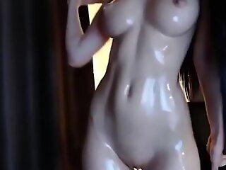 XXX bitch smeared her body with oil hotwebcamvideosfuck movie reinforcer