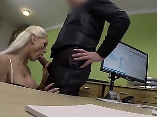 LOAN4K. Poor and gorgeous shop assistant has wild mating with stranger