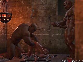 地下城中的野蛮狂欢。没有人知道Selina的热情。 3D动画