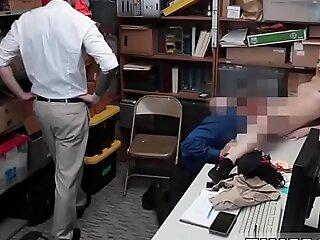 警察性交和金发女郎钢棒第一年龄尝试窃贼